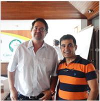 Lic. Pedro Colanzi, Presidente de la Cámara Forestal de Bolivia y consultor Marcelo Paz Soldán