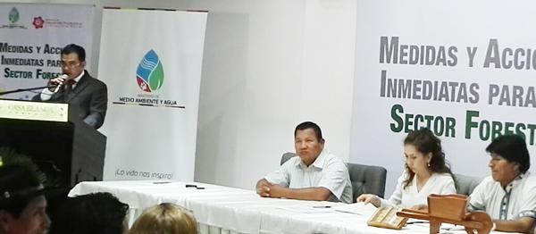Discurso del Lic. Pedro Colanzi en ocasión del Acto de lanzamiento del paquete de Medidas forestales