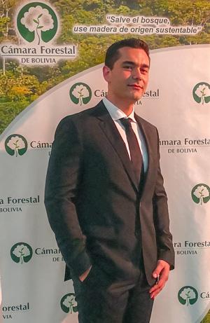 Lic. Diego Justiniano, Presidente de la Cámara Forestal de Bolivia, gestión 2018 - 2020