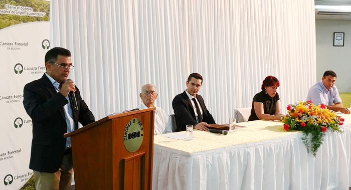 Lic. Pedro Colanzi, presidente saliente de la Cámara Forestal de Bolivia