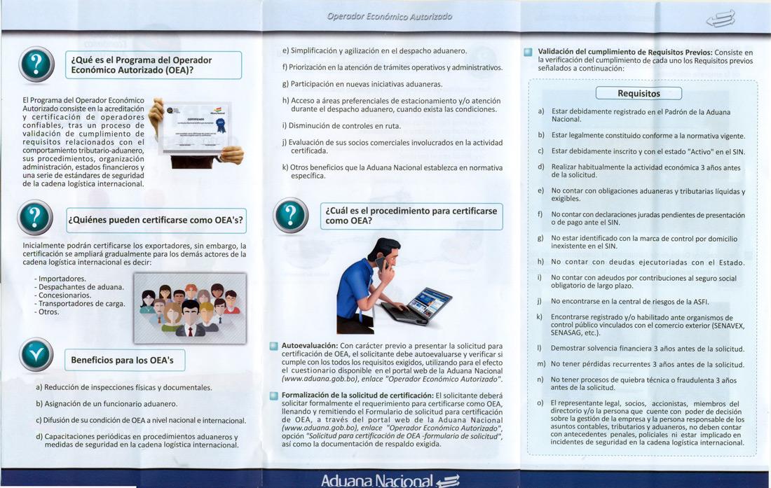 Folleto Operador Económico Autorizado por la ABT