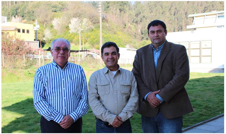 Bolivia fortalece relación en el área forestal con Chile . Dr. Fernando Drake, Sr. Pedro Colanzi, Sr. Rolf Köhler.Foto: udec.cl
