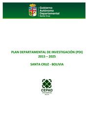Plan Departamental de Investigación PDI 2015-2025