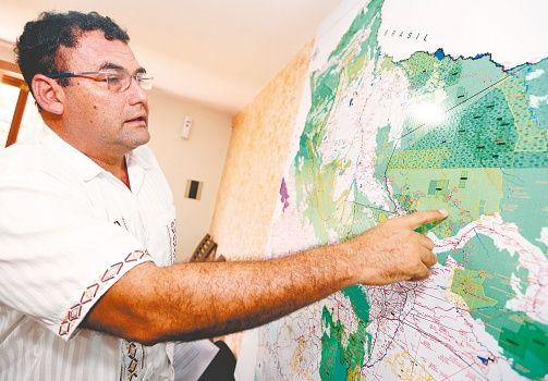 Köhler cree que si no se actúa ahora, hay riesgo de que la reserva El Choré sea borrada del mapa. Foto: Fuad Landívar