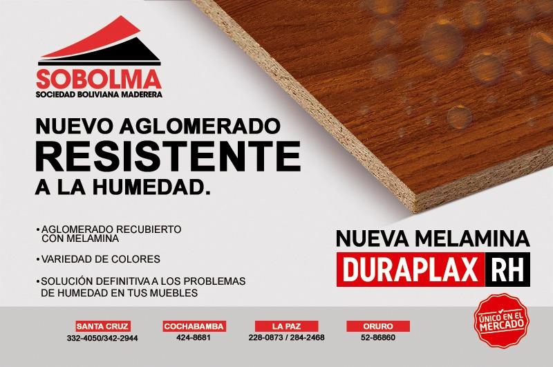 Sobolma Ltda., en su proceso de innovación lanza al mercado nacional los tableros Resistentes a la Humedad Duraplax (RH)