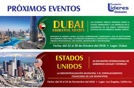 Encuentros Internacionales Gobiernos Locales y Estatales Dubái y Los Ángeles