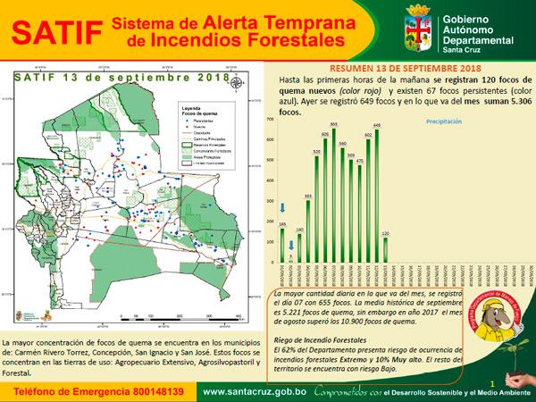 El 62% del Departamento presenta riesgo de ocurrencia de incendios forestales Extremo