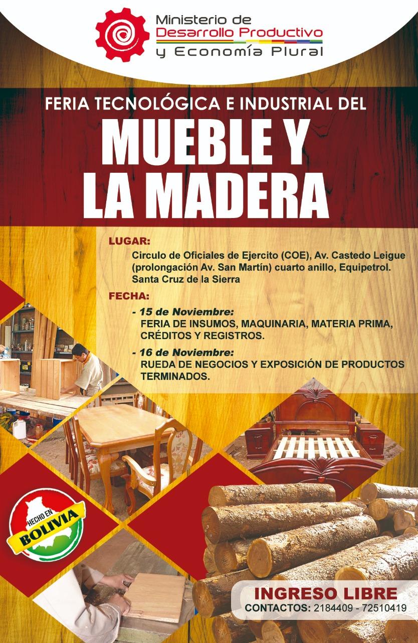 Feria Tecnológica e Industrial del Mueble y la Madera Santa Cruz - 2018
