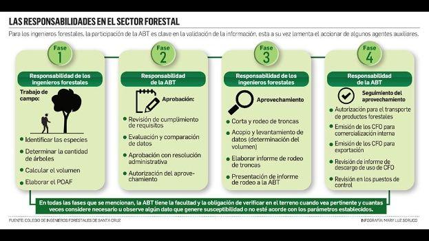 Para el director del ente regulador el actual sistema forestal está 'podrido' y se lo debe cambiar. El Colegio de Ingenieros Forestales pide investigar a los otros eslabones