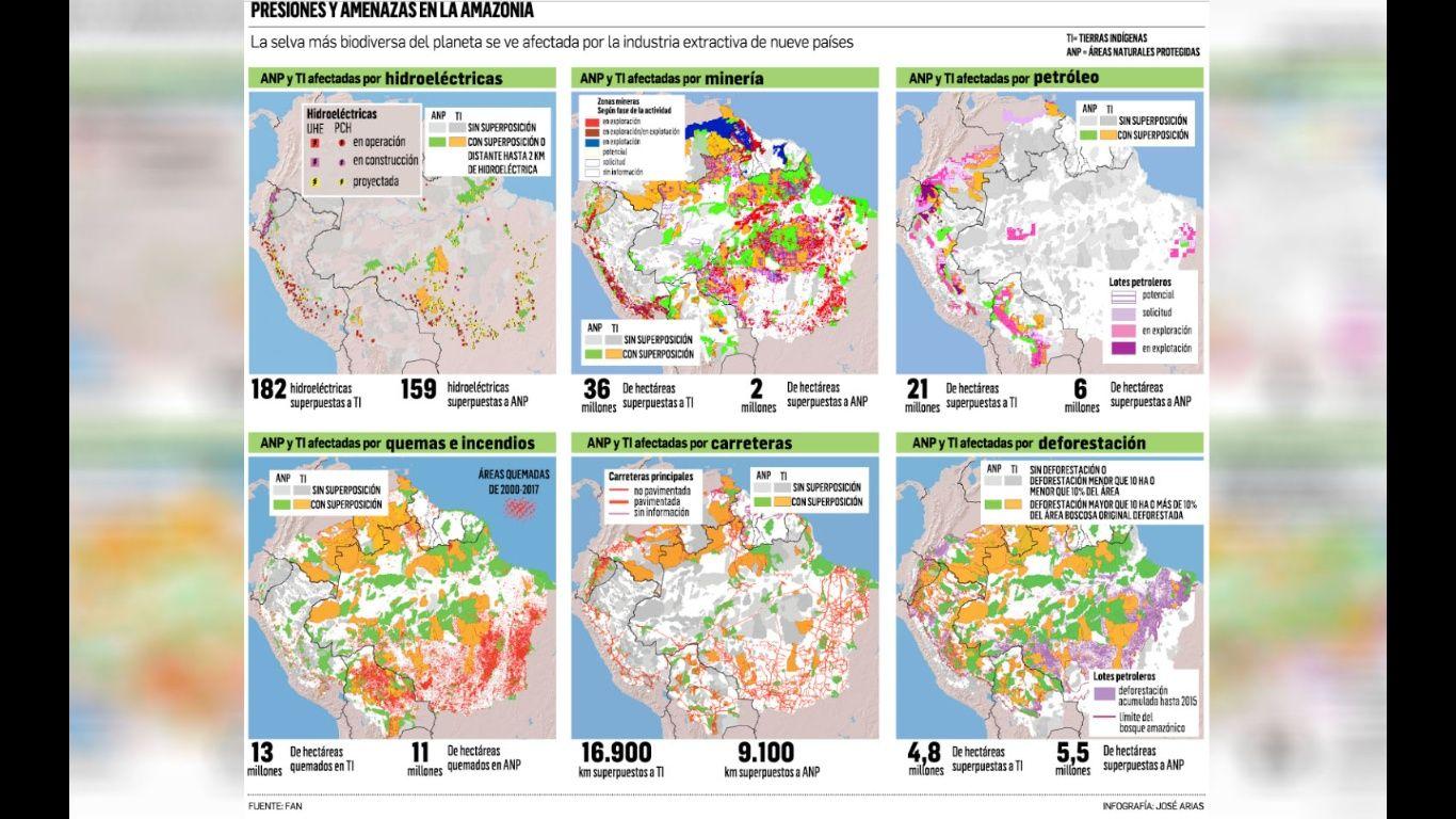 El daño lo revela un informe denominado Amazonia en la encrucijada, que da una mirada a seis actividades que presionan y amenazan la Amazonia en nueve países. La expansión agrícola es una de las mayores causas de la desforestación en el país