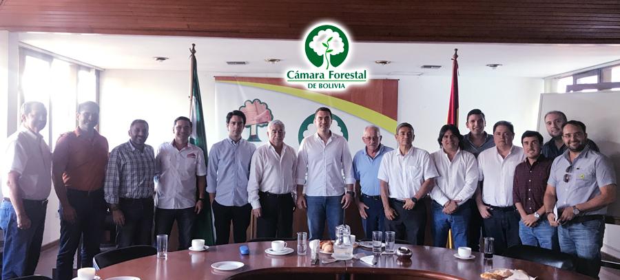 Cámara Forestal de Bolivia, Directores y Ejecutivos sostuvieron una reunión con el Ministro de Desarrollo Productivo y Economía Plural, Wilfredo Rojo