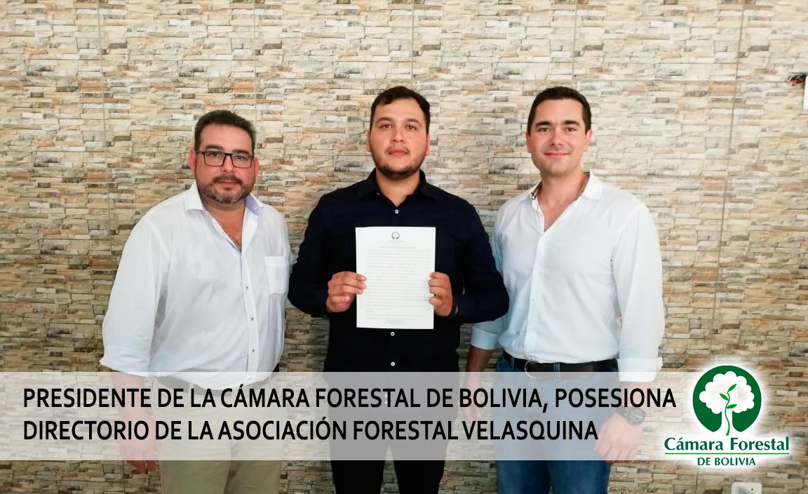 Presidente de la Cámara Forestal De Bolivia, posesiona directorio de la asociación forestal Velasquina