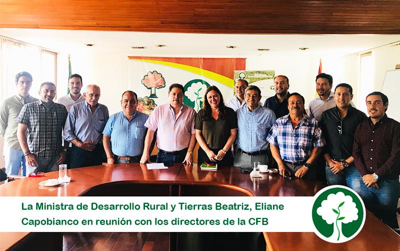 la Cámara Forestal de Bolivia recibió la visita de la Ministra de Desarrollo Rural y Tierras la Dra. Beatriz Eliane Capobianco