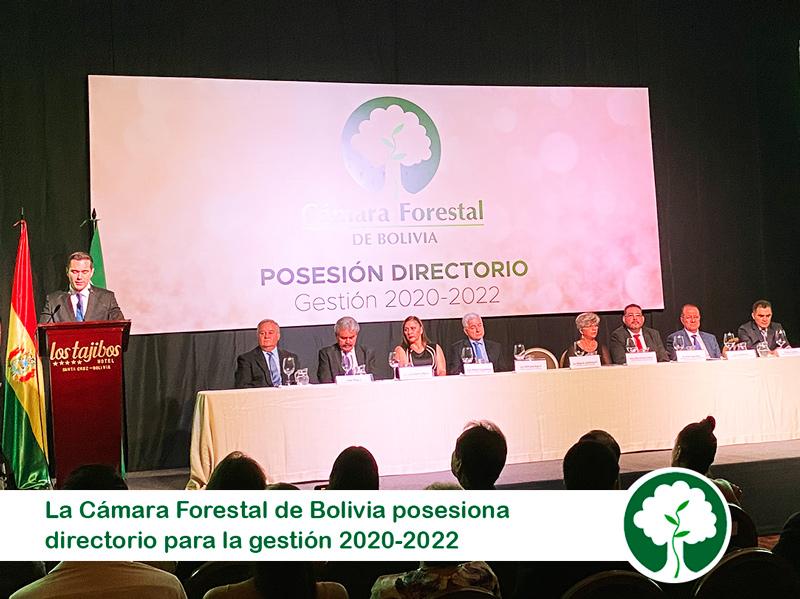 La Cámara Forestal de Bolivia posesiona directorio para la gestión 2020-2022